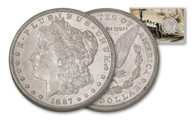 1887 Morgan Silver Dollar Railroad XF