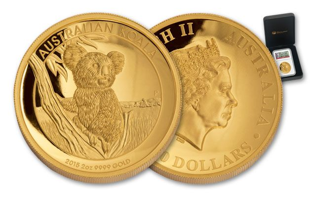 2015 Australia 200 Dollar 2-oz Gold Koala NGC PF70UCAM High Relief