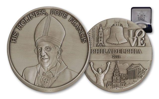 2015 1-oz Silver Pope Francis US Tour Philadelphia BU