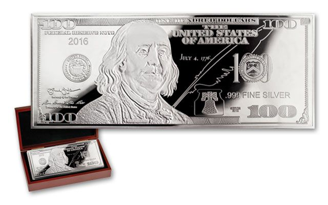 2016 100 Dollar 1-oz Silver Franklin Proof