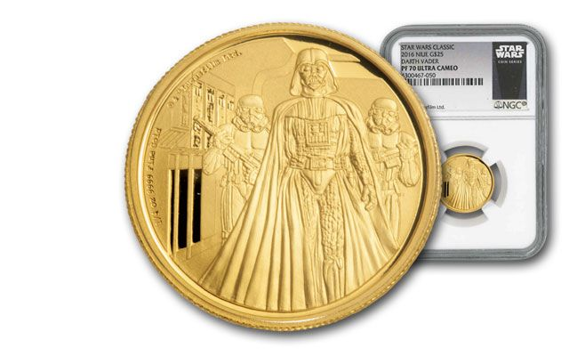 2016 Niue 1/4-oz Gold Star Wars Darth Vader NGC PF70UCAM