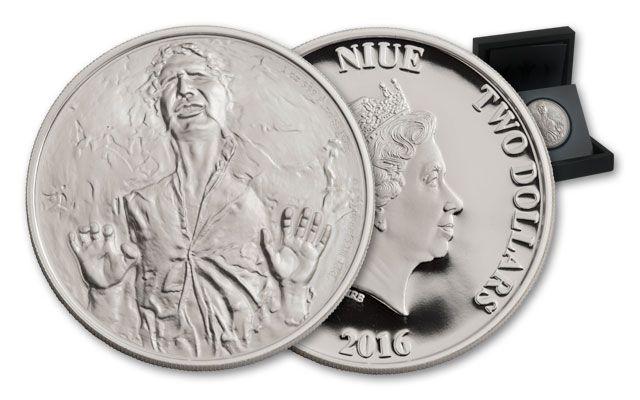 2016 Niue 2 Dollar 1-oz Silver Star Wars Classic Han Solo Proof