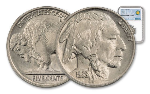 1938-D Buffalo Nickel NGC MS66 Smithsonian Coin Classics