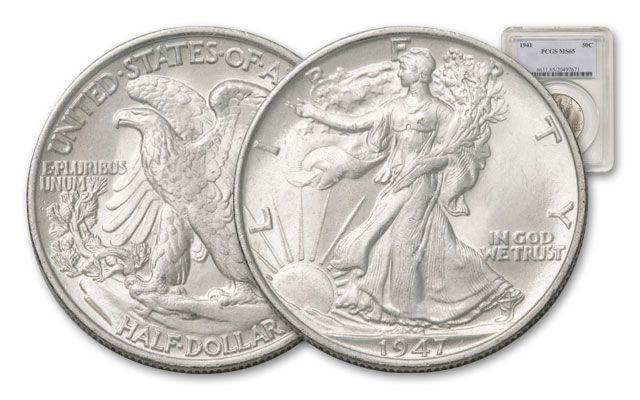 1941-1947 Walking Liberty Half Dollar NGC/PCGS MS65