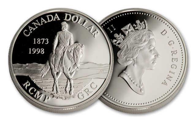 1998 Canada 1 Dollar Silver Royal Canadian Mounted Police Proof
