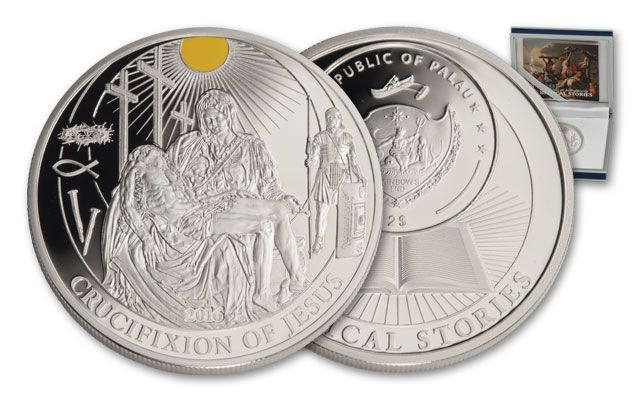 2016 2 Dollar 1/2-oz Silver Crucifixion of Jesus Proof