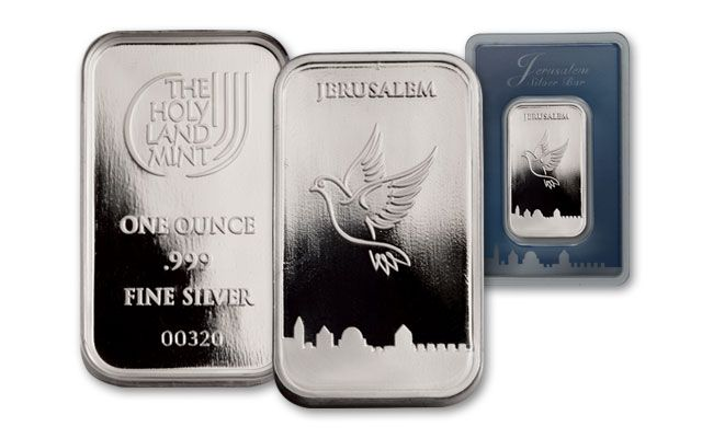 1-oz Silver Dove of Peace Bar