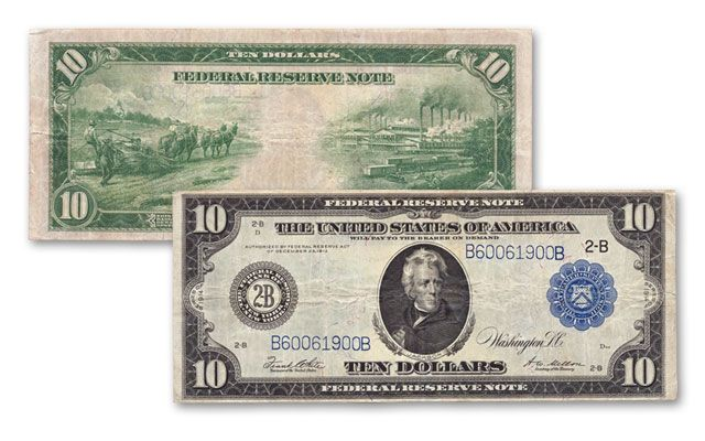 1914 10 Dollar Federal Reserve Bank Note VF