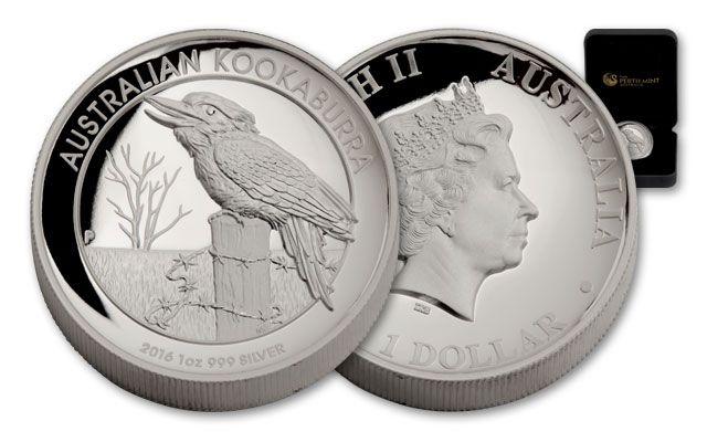 2016 Australia 1 Dollar 1-oz Silver Kookaburra High Relief Proof