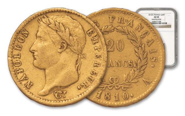 1803-1815 France Franc Napoleon I NGC AU