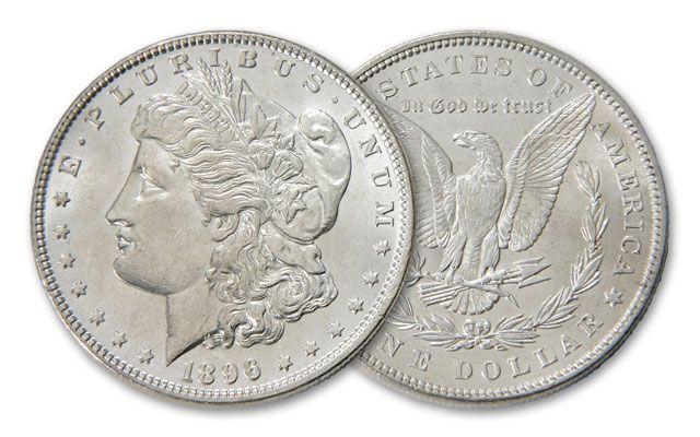 1896-P Morgan Silver Dollar BU