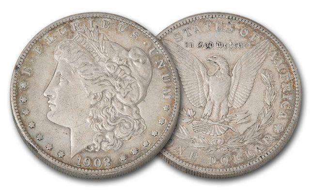 1902-P Morgan Silver Dollar XF