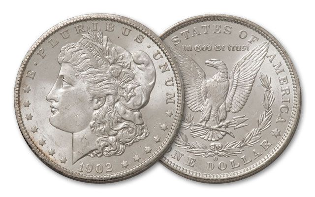 1902-O Morgan Silver Dollar BU