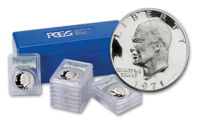 1971-1978 Eisenhower Dollar Collection PCGS PR69 DCAM 11 Pieces