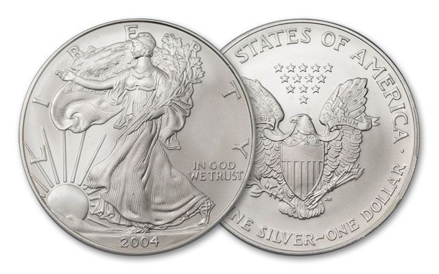 2004 1 Dollar 1-oz Silver Eagle BU