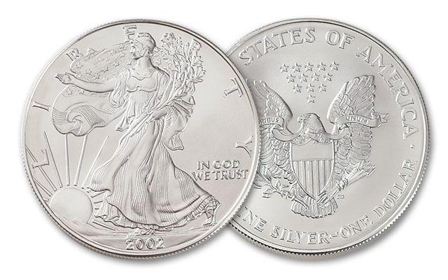 2002 1 Dollar 1-oz Silver Eagle BU
