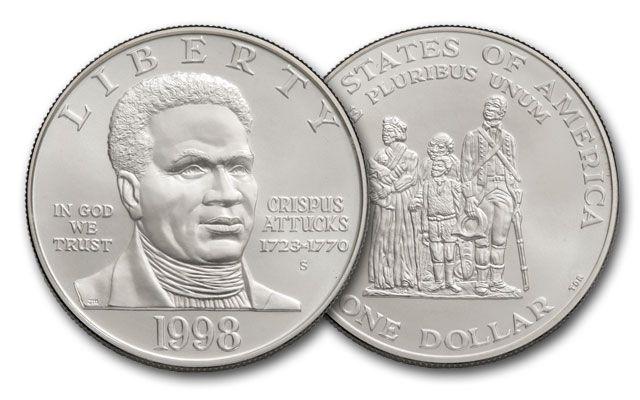 1998-S 1 Dollar Silver Black Revolutionary Patriots BU