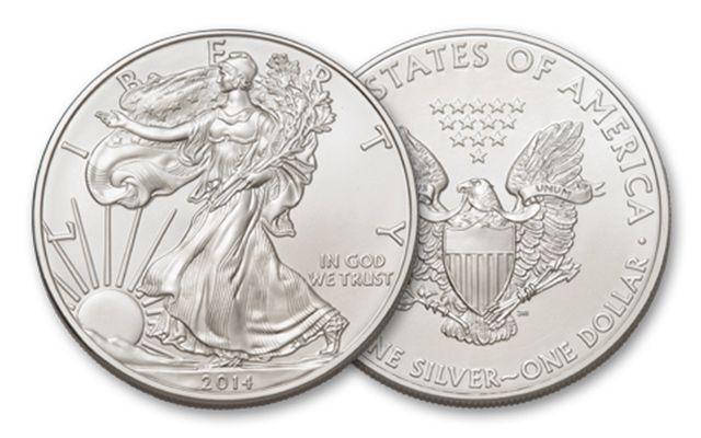 2014 1 Dollar 1-oz Silver Eagle BU