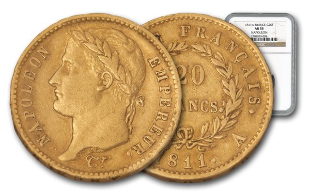 1811-A France 20 Francs Napoleon I NGC AU55