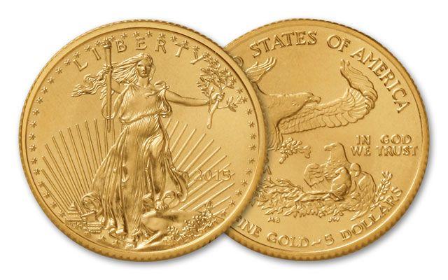 2015 5 Dollar 1/10-oz Gold Eagle BU   GovMint com