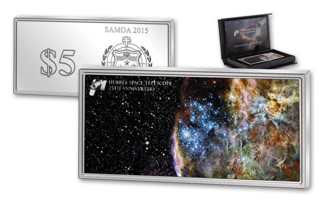 2015 5 Dollar 1-oz Silver Hubble Space Telescope Proof-Like