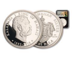 2018 Royal Hawaiian Mint 1-oz Silver King Kalakaua I NGC PF70UC Kingdom of Hawaii 125th Anniversary