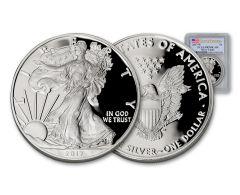 2017 1 Dollar 1-oz Silver Eagle Proof PCGS PR70DCAM First Strike
