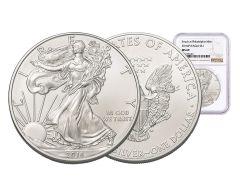 2016-P 1 Dollar 1-oz Silver Eagle NGC MS69 Brown Label
