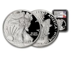 2016-W $1 1-oz Silver Eagle 30th Anniversary Congratulations Set NGC PF69UC - Mercanti Signed Label, Black Core