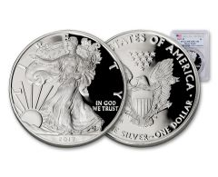 2017-W 1 Dollar 1-oz Silver Eagle Proof PCGS PF70 DCAM First Day of Issue
