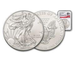 "2017-P ""Struck At"" 1 Ounce $1 Silver Eagle NGC MS69 FDI White Core"
