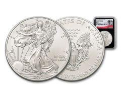 "2017-P ""Struck At"" 1 Ounce $1 Silver Eagle NGC MS69 FDI Black Core"