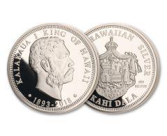 2018 Royal Hawaiian Mint 1-oz Silver King Kalakaua I Proof Kingdom of Hawaii 125th Anniversary