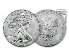 2018-W 1 Dollar 1-oz Burnished Silver Eagle NGC MS70 First Releases Silver Foil Label