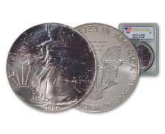 1986 $1 1-oz Silver Eagle Toned PCGS MS69 First Strike 81075905