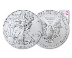 2015-(W) 1 Dollar 1 Ounce Silver Eagle Struck At West Point NGC MS69 - Mercanti Signed, White Core Label