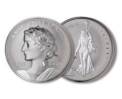 2019 Canada 1-oz Silver Peace & Liberty Medal Ultra High Relief Reverse Proof