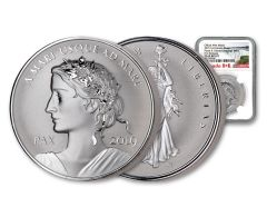 2019 Canada 1-oz Silver Peace & Liberty Medal Ultra High Relief Reverse NGC PF69 First Releases