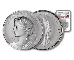 2019 Canada 1-oz Silver Peace & Liberty Medal Ultra High Relief Reverse NGC PF70 First Releases - Canada Label