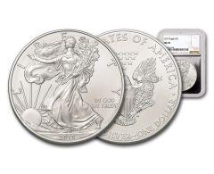 2019 $1 1-oz Silver American Eagle NGC MS70 - Silver Core