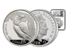 2019 Great Britain £5 Silver Tower of London Ravens NGC PF70UC First Releases