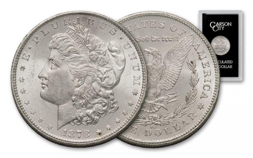 1878-CC Morgan Silver Dollar BU GSA Holder