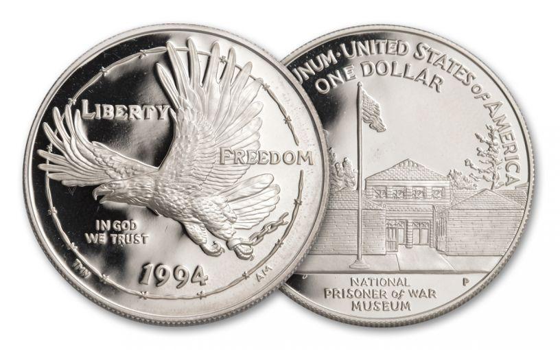 1994-P Prisoners of War Silver Dollar Proof