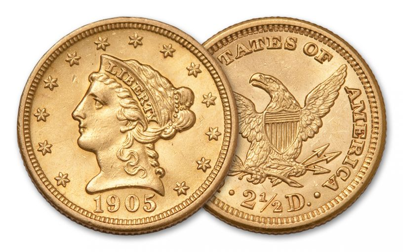 1840-1907 2.5 Dollar Gold Liberty Head XF