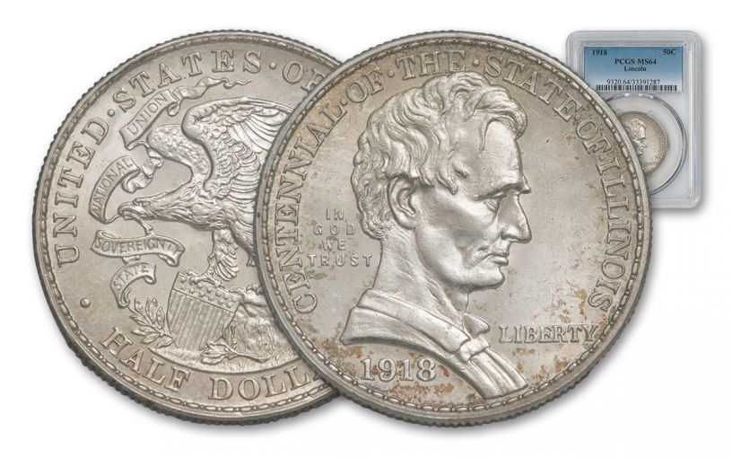 1918-P Silver Lincoln Half Dollar NGC/PCGS MS64