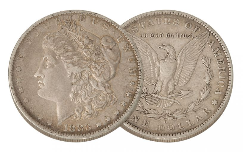 1883-O Morgan Silver Dollar XF