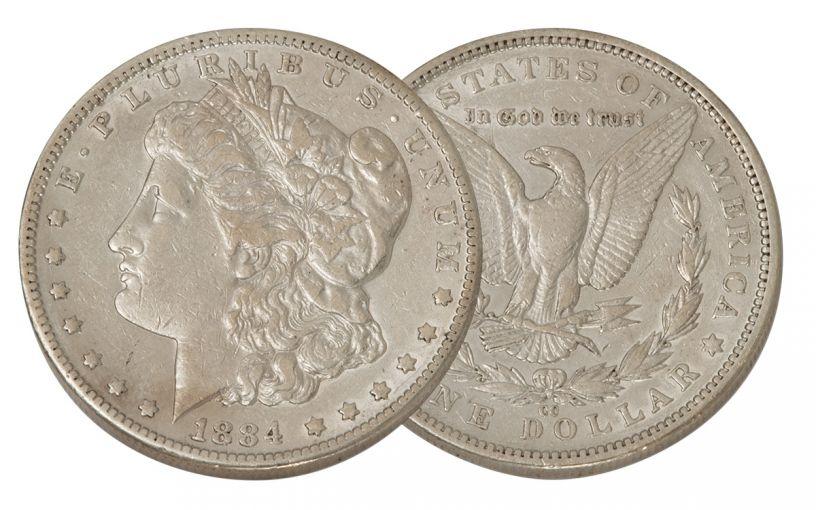 1884-CC Morgan Silver Dollar XF