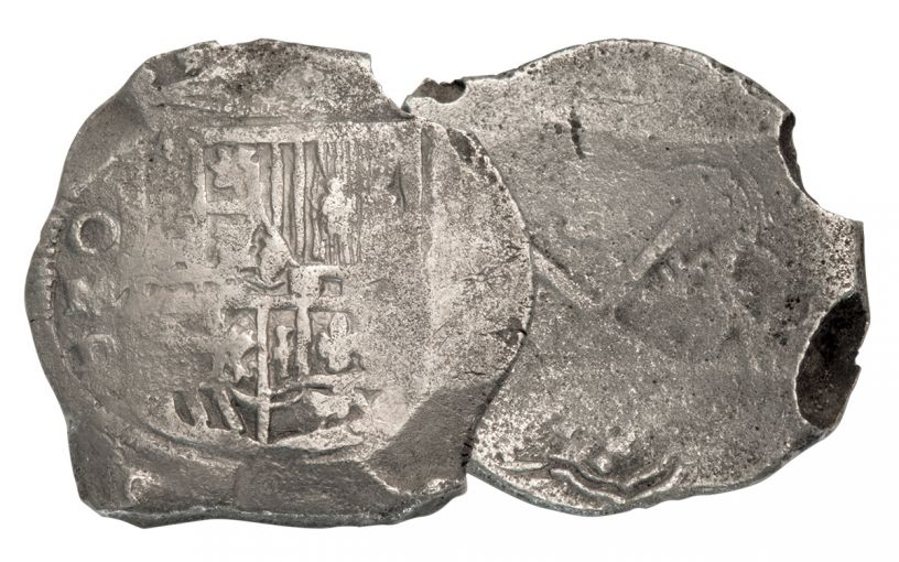 SPANISH 1600S 8 REALE COB SHIPWRECK EFFECT
