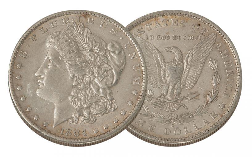 1884-O Morgan Silver Dollar XF