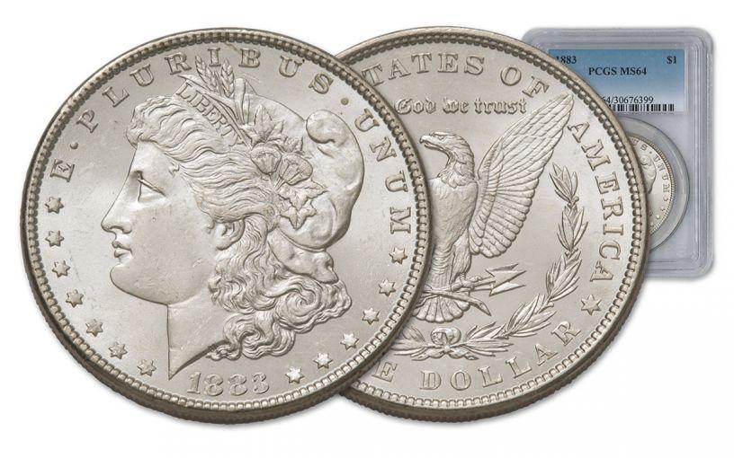 1883-P Morgan Silver Dollar PCGS MS64